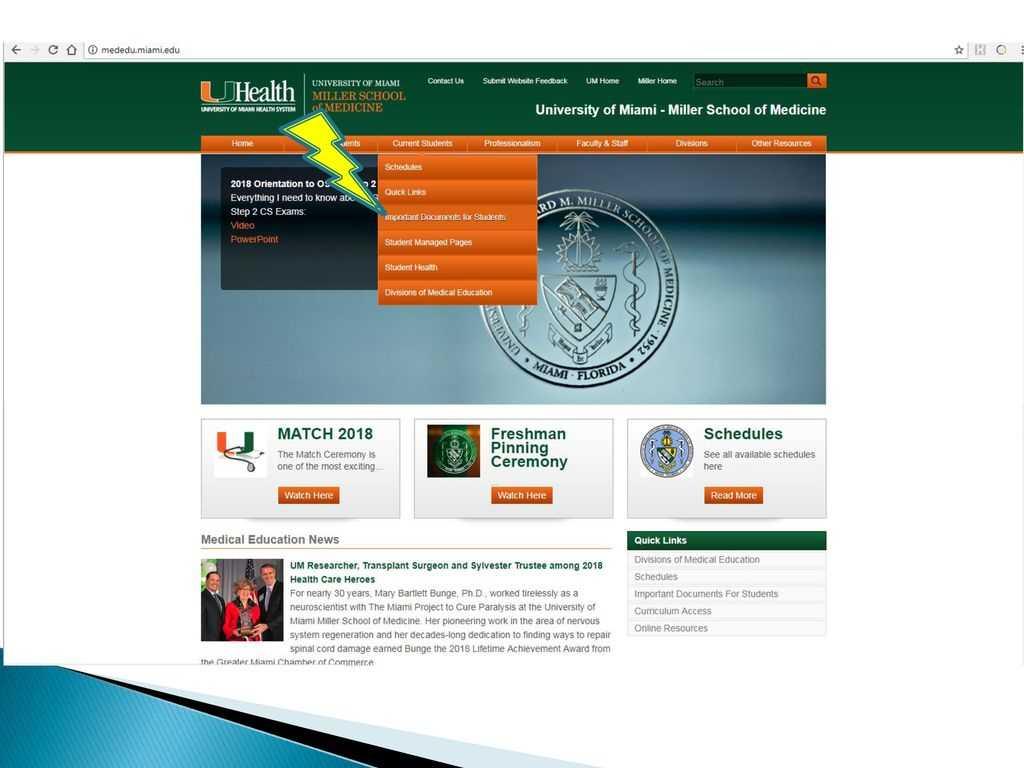 University Of Miami Miller School Of Medicine - Ppt Download Inside University Of Miami Powerpoint Template