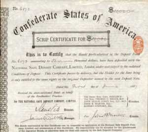 Usa: Historic Bonds And Shares within Corporate Bond Certificate Template