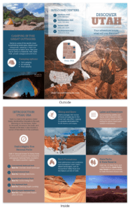 Utah Travel Brochure with regard to Travel And Tourism Brochure Templates Free