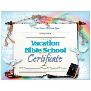 Vacation Bible School Set Of 30 Certificates intended for Vbs Certificate Template