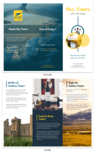 Vacation Tours Travel Tri Fold Brochure Template pertaining to Island Brochure Template
