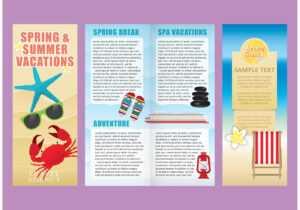 Vacations Brochure Template Vectors – Download Free Vectors in Island Brochure Template