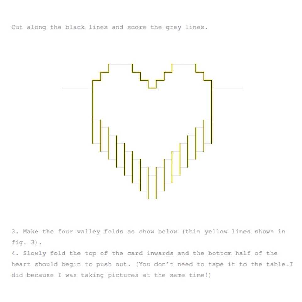 Valentines Day Pixelated Popup Cardlindsey Holmes - Musely Regarding Pixel Heart Pop Up Card Template