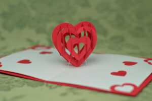 Valentine's Day Pop Up Card: 3D Heart Tutorial – Creative intended for Twisting Hearts Pop Up Card Template