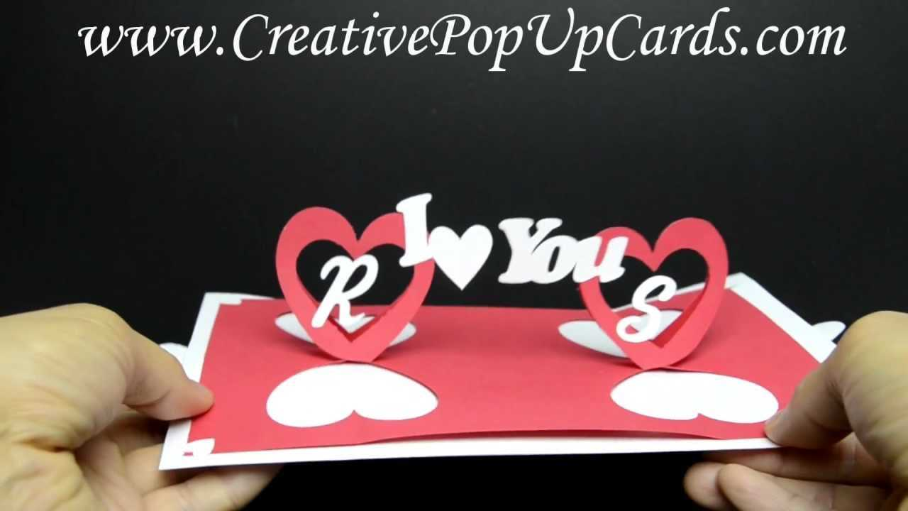 Valentines Day Pop Up Card: Twisting Hearts Within Twisting Hearts Pop Up Card Template