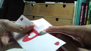 Valentine's Day Pop Up Card: Twisting Hearts – Youtube intended for Twisting Hearts Pop Up Card Template