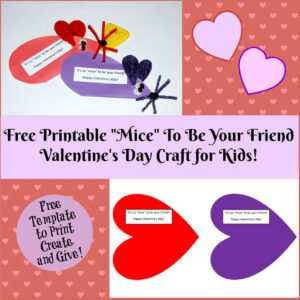 Valentine's Day Printable Card Crafts For Kids To Create intended for Valentine Card Template For Kids