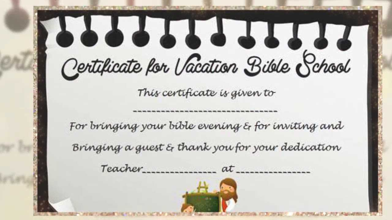 Vbs Certificate Template - Youtube Inside Vbs Certificate Template