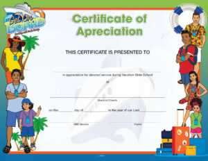 Vbs Get On Board Certificate Of Appreciation throughout Vbs Certificate Template