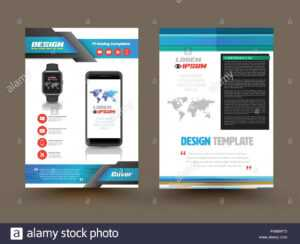 Vector Brochure Template Design For Technology Product with regard to Technical Brochure Template