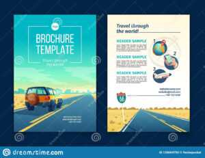 Vector Brochure Template With Tourist Concept, Traveling with Travel And Tourism Brochure Templates Free