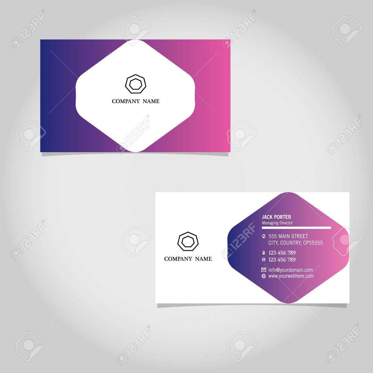 Vector Business Card Template Design Adobe Illustrator With Adobe Illustrator Business Card Template