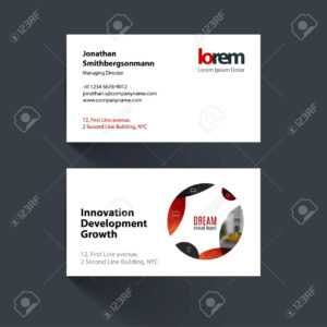 Vector Business Card Template With Red Circle, Soft Shapes, Round For It,  Business, Beauty. Simple And Clean Design. Creative Corporate Identity inside Soccer Report Card Template