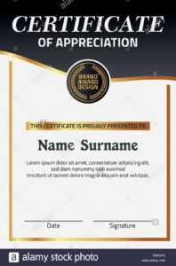 Vector Certificate Template. Illustration Certificate In A4 with regard to Certificate Template Size