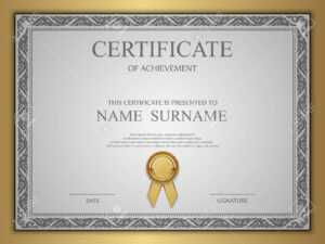 Vector Certificate Template. pertaining to Commemorative Certificate Template