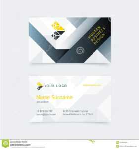 Vector Creative Business Card Template Stock Vector pertaining to Construction Business Card Templates Download Free