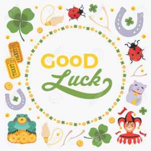 Vector Decorating Design Made Of Lucky Charms, And The Words.. with regard to Good Luck Card Templates