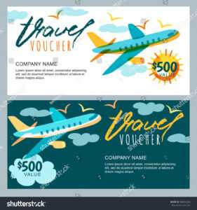 Vector Gift Travel Voucher Template Multicolor Stock Vector throughout Free Travel Gift Certificate Template