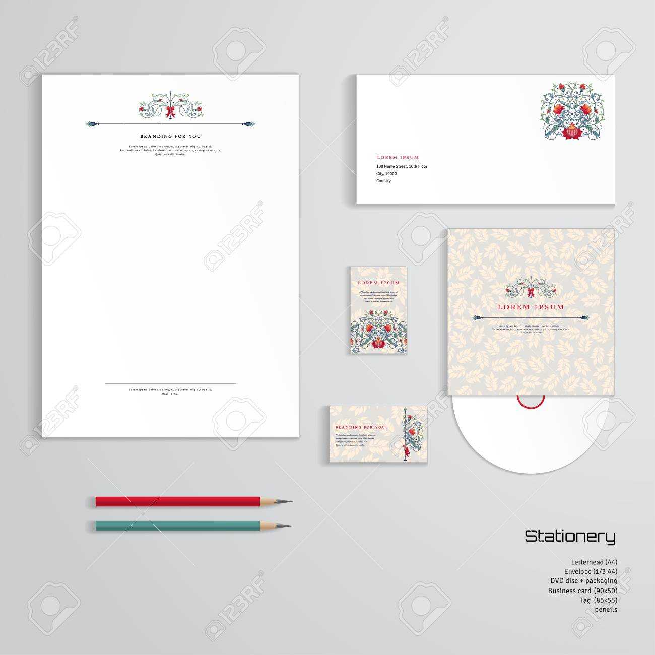 Vector Identity Templates. Letterhead, Envelope, Business Card,.. In Business Card Letterhead Envelope Template