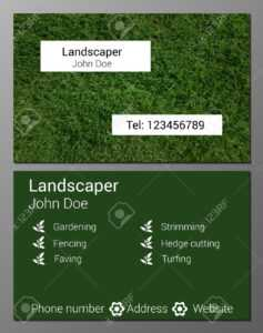Vector Illustration Of Gardener Business Card Design Template.. for Gardening Business Cards Templates