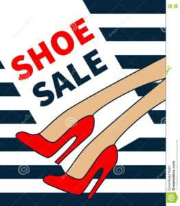Vector Shoe Sale Stock Vector. Illustration Of Heels – 80561068 within High Heel Template For Cards