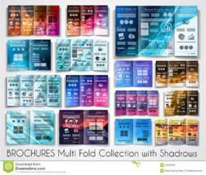 Vector Tri Fold Brochure Template Design Or Flyer Layout regarding Product Brochure Template Free