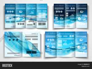 Vector Tri Fold Vector & Photo (Free Trial) | Bigstock pertaining to Product Brochure Template Free