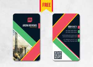 Vertical Business Card Design Psd – Free Download | Arenareviews with regard to Business Card Size Template Psd