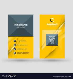 Vertical Double-Sided Business Card Template throughout Double Sided Business Card Template Illustrator