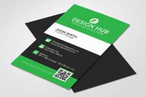 Vertical Visiting Card Template – Vsual in Designer Visiting Cards Templates