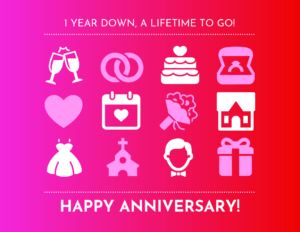 Vibrant Wedding Anniversary Card Template intended for Template For Anniversary Card