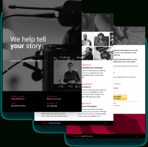 Video Proposal Template – Free Sample | Proposify pertaining to Advertising Rate Card Template