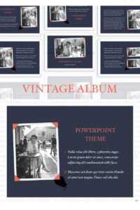 Vintage Album Powerpoint Template regarding Powerpoint Photo Album Template