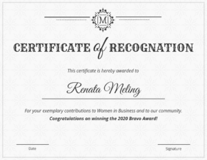 Vintage Certificate Of Recognition Template in Volunteer Of The Year Certificate Template