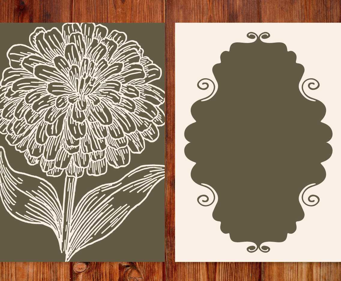 Vintage Flower Card Template Ai, Svg, Eps File | Free In Free Svg Card Templates