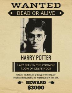 Vintage Harry Potter Wanted Poster Template throughout Harry Potter Certificate Template