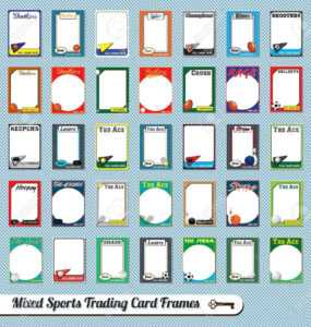 Vintage Mixed Sport Trading Card Picture Frames within Free Trading Card Template Download