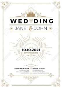 Vintage Wedding Invitation Card A5 Size Frame Layout Print Template intended for Wedding Card Size Template