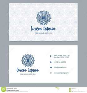Visiting Card Business Card Template Set With Cute Hand within Christian Business Cards Templates Free