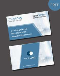 Visiting Card Psd Template Free Download for Visiting Card Psd Template Free Download