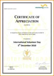 Volunteer Certificate Of Appreciation Template – Diff within Volunteer Certificate Template