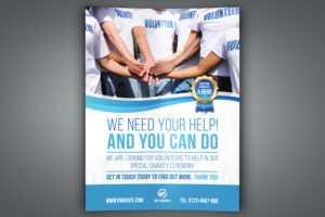 Volunteer Charity Flyer Template for Volunteer Brochure Template