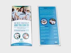 Volunteer Flyer Template Dl Sizeowpictures On Dribbble intended for Volunteer Brochure Template