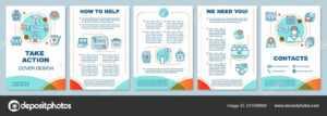 Volunteering Activity Brochure Template Layout Take Action for Volunteer Brochure Template