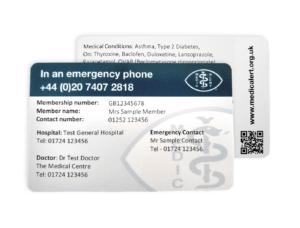 Wallet Card for Medical Alert Wallet Card Template