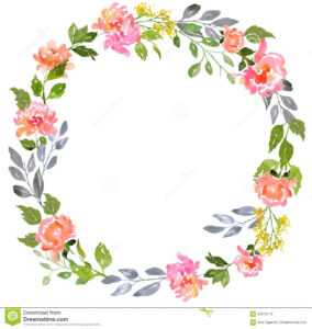 Watercolor Floral Card Template Stock Illustration in Free Blank Greeting Card Templates For Word
