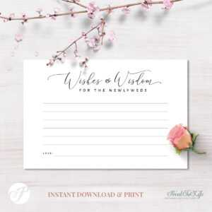 Wedding Advice Card, Wishes & Wisdom For The Newlyweds, #lettering  Collection intended for Marriage Advice Cards Templates