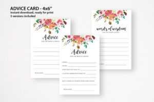 Wedding Advice Card. Words Of Wisdom. Bridal Shower Advice. Wedding Cards.  Advice For Bride And Groom. Advice Card Pdf with Marriage Advice Cards Templates