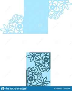 "Wedding Card Floral Flower Pattern 5X7"" Invitation Wedding for Free Svg Card Templates"