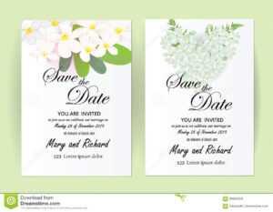 Wedding Invitation Card Flowers,jasmine Stock Vector in Wedding Card Size Template